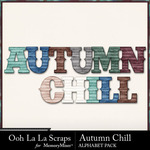 Autumn Chill Alphabet Pack-$3.49 (Ooh La La Scraps)