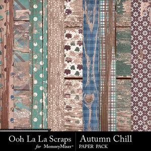 Autumn chill worn wood papers medium