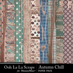 Autumn Chill Worn Wood Paper Pack-$1.99 (Ooh La La Scraps)