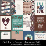 Autumn Chill Pocket Cards Pack-$1.99 (Ooh La La Scraps)