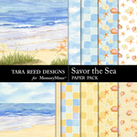 Savor the Sea Paper Pack-$3.99 (Tara Reed Designs)