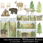 Wilderness Retreat Embellishment Pack-$3.99 (Tara Reed Designs)