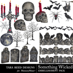 Something Wicked Embellishment Pack-$3.99 (Tara Reed Designs)