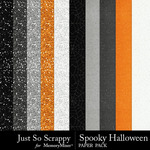 Spooky Halloween JSS Glitter Paper Pack-$1.99 (Just So Scrappy)