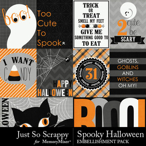 Spooky halloween pocket cards medium