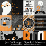 Spooky Halloween JSS Journal Cards Pack-$1.99 (Just So Scrappy)