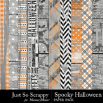 Spooky halloween wood papers small