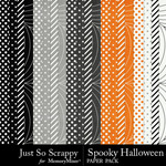 Spooky Halloween JSS Pattern Paper Pack-$1.99 (Just So Scrappy)