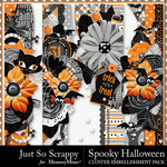Spooky Halloween JSS Page Borders Pack-$1.99 (Just So Scrappy)