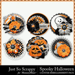 Spooky halloween cluster seals small