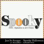 Spooky Halloween JSS Alphabet Pack-$3.49 (Just So Scrappy)