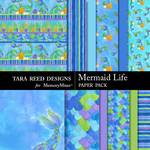 Mermaid Life Paper Pack-$3.99 (Tara Reed Designs)
