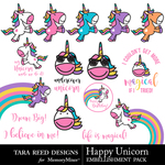 Happy Unicorn Embellishments-$3.99 (Tara Reed Designs)