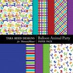 Balloon Animal Party Paper Pack-$3.99 (Tara Reed Designs)