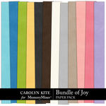 Bundle of Joy Solid Paper Pack-$3.99 (Carolyn Kite)