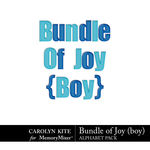 Bundle of Joy Boy Alphabet Pack-$2.99 (Carolyn Kite)