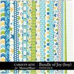 Bundle of Joy Boy Paper Pack-$3.99 (Carolyn Kite)