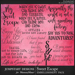 Sweet Escape JSD WordArt Pack-$3.99 (Jumpstart Designs)