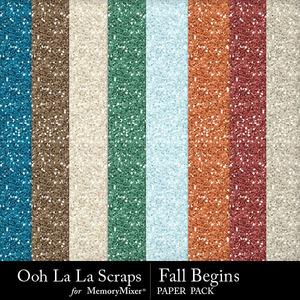 Fall begins glitter medium