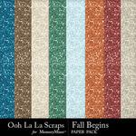 Fall Begins Glitter Paper Pack-$1.99 (Ooh La La Scraps)
