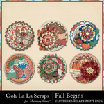 Fall Begins Cluster Seals Pack-$1.99 (Ooh La La Scraps)