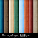 Fall Begins Solid Paper Pack-$1.99 (Ooh La La Scraps)