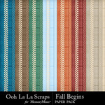 Fall Begins Pattern Paper Pack-$1.99 (Ooh La La Scraps)