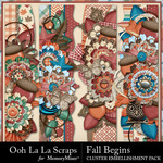 Fall Begins Page Borders Pack-$1.99 (Ooh La La Scraps)