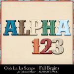 Fall Begins Alphabet Pack-$3.49 (Ooh La La Scraps)
