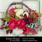 Awesome Autumn Embellishment Pack-$4.99 (Indigo Designs)