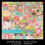 Love is Cute Combo Pack-$5.99 (CutiePie Scraps)