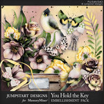 You Hold the Key Embellishments-$4.49 (Jumpstart Designs)