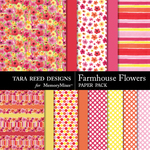 Farmhouse Flowers Papers-$3.99 (Tara Reed Designs)