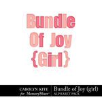 Bundle of Joy Girl Alphabet Pack-$3.99 (Carolyn Kite)