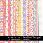 Bundle of Joy Girl Paper Pack-$3.99 (Carolyn Kite)