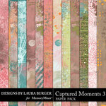 Captured Moments 3 Grunge Papers-$4.99 (Laura Burger)