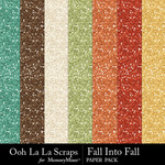 Fall into fall glitter papers small
