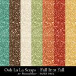 Fall Into Fall Glitter Paper Pack-$1.99 (Ooh La La Scraps)