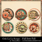 Fall Into Fall Cluster Seals Pack-$1.99 (Ooh La La Scraps)