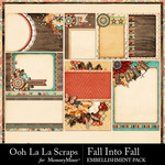 Fall into fall pocket scrap cards small