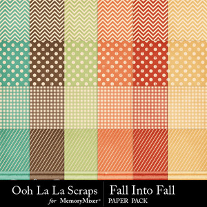 Fall into fall pattern papers medium