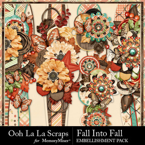 Fall into fall page borders medium