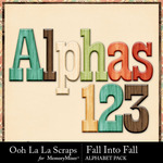 Fall Into Fall Alphabet Pack-$3.49 (Ooh La La Scraps)