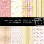 Giggle Bear Girl Paper Pack-$4.00 (Tara Reed Designs)