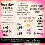 Someone Smiles WordArt Pack-$4.99 (Laura Burger)