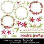 Be Joyful Embellishments-$3.99 (Tara Reed Designs)