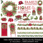 Home for the Holidays Embellishments-$3.99 (Tara Reed Designs)