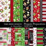 Penguin Preparations Papers-$3.99 (Tara Reed Designs)