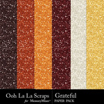 Grateful glitter papers small