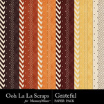 Grateful Pattern Paper Pack-$1.99 (Ooh La La Scraps)